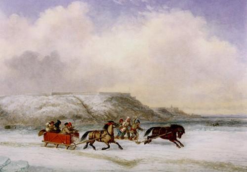 krieghoff_course de traîneau_1852