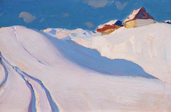 clarence gagnon_ferme sur la colline, charlevoix, 1922