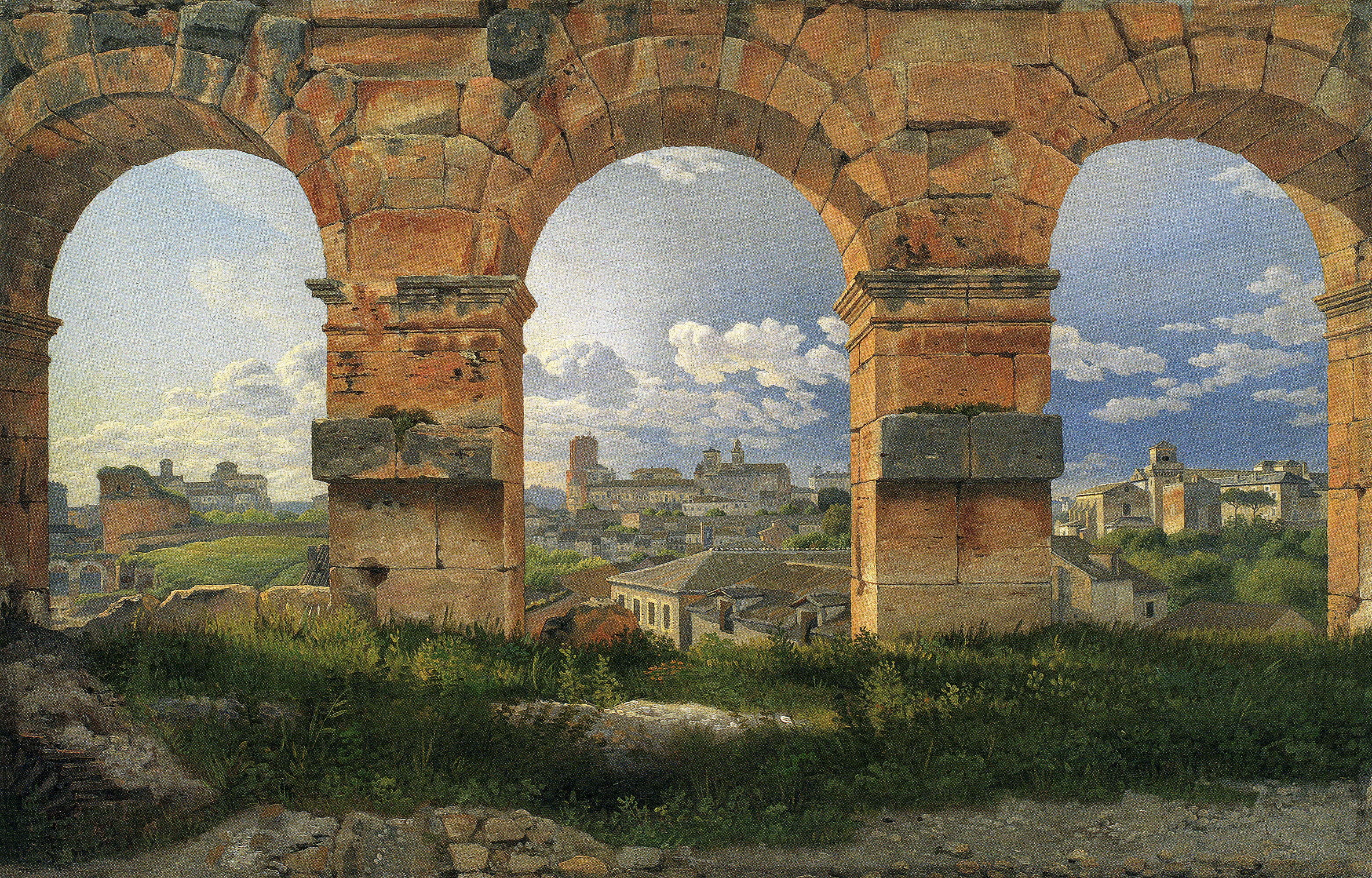 Eckersberg_A View through Three of the Arches of the Coliseum in Rome, 1815_p159