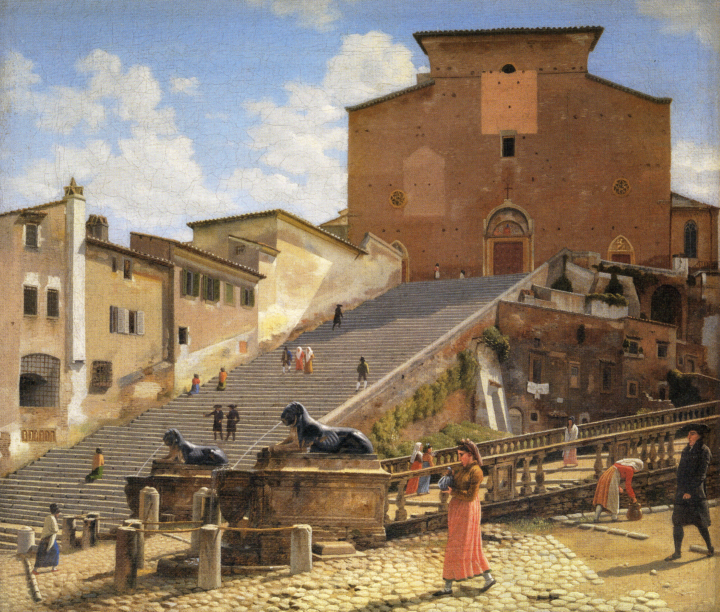 Eckersberg_The Marble Steps leading to the Church of Santa Maria in Acacoeli in Rome, 1814-16_p26