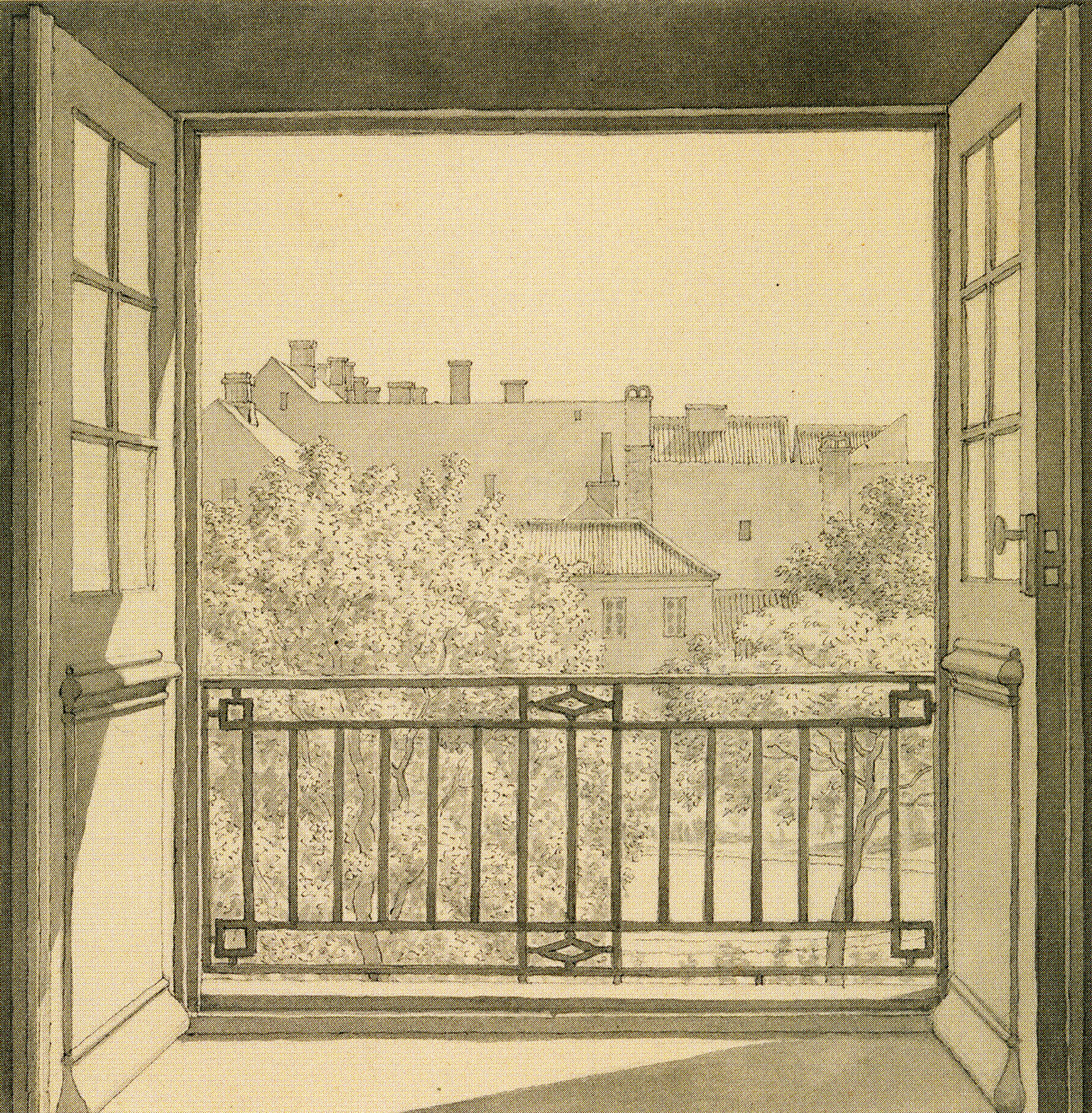 Eckersberg_View from the Domed Hall at Charlottenborg in Copenhagen, 1845_p170