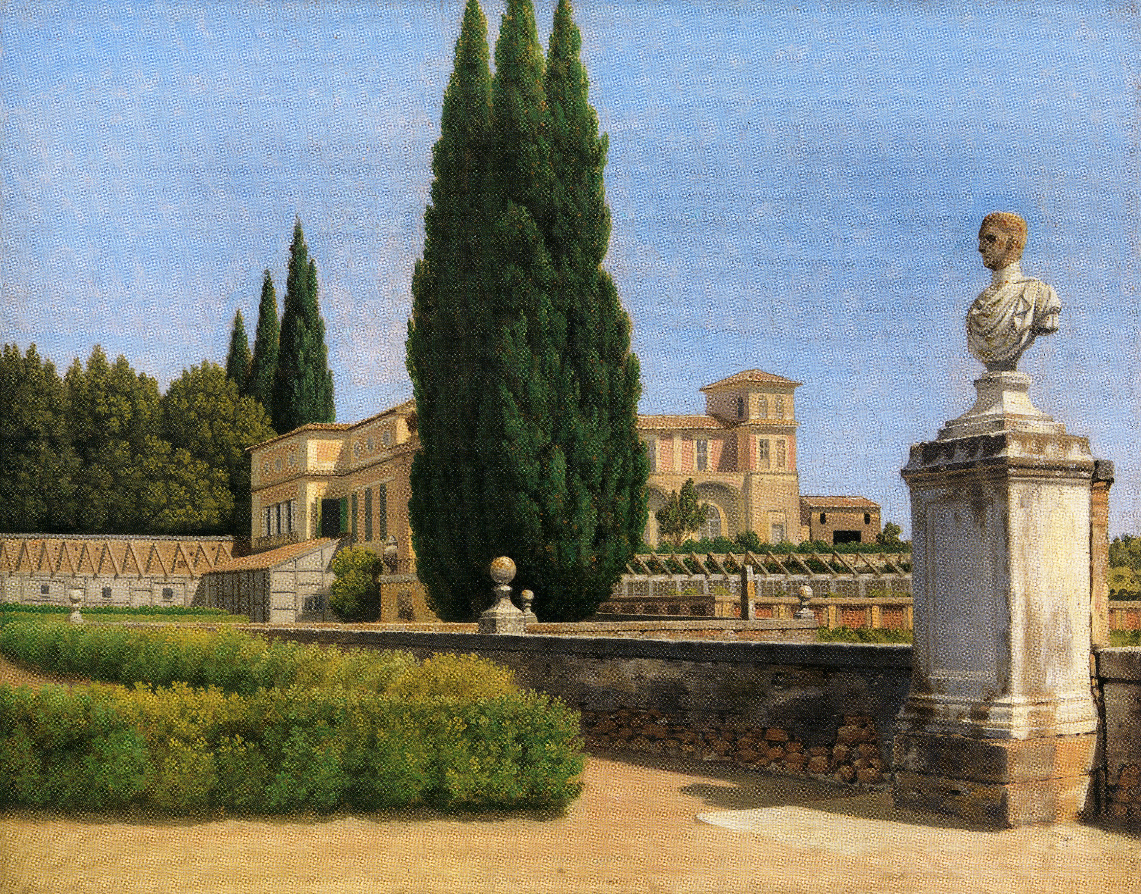 Eckersberg_View of the Gardens at the Villa Albani, Rome, 1814-16_p29