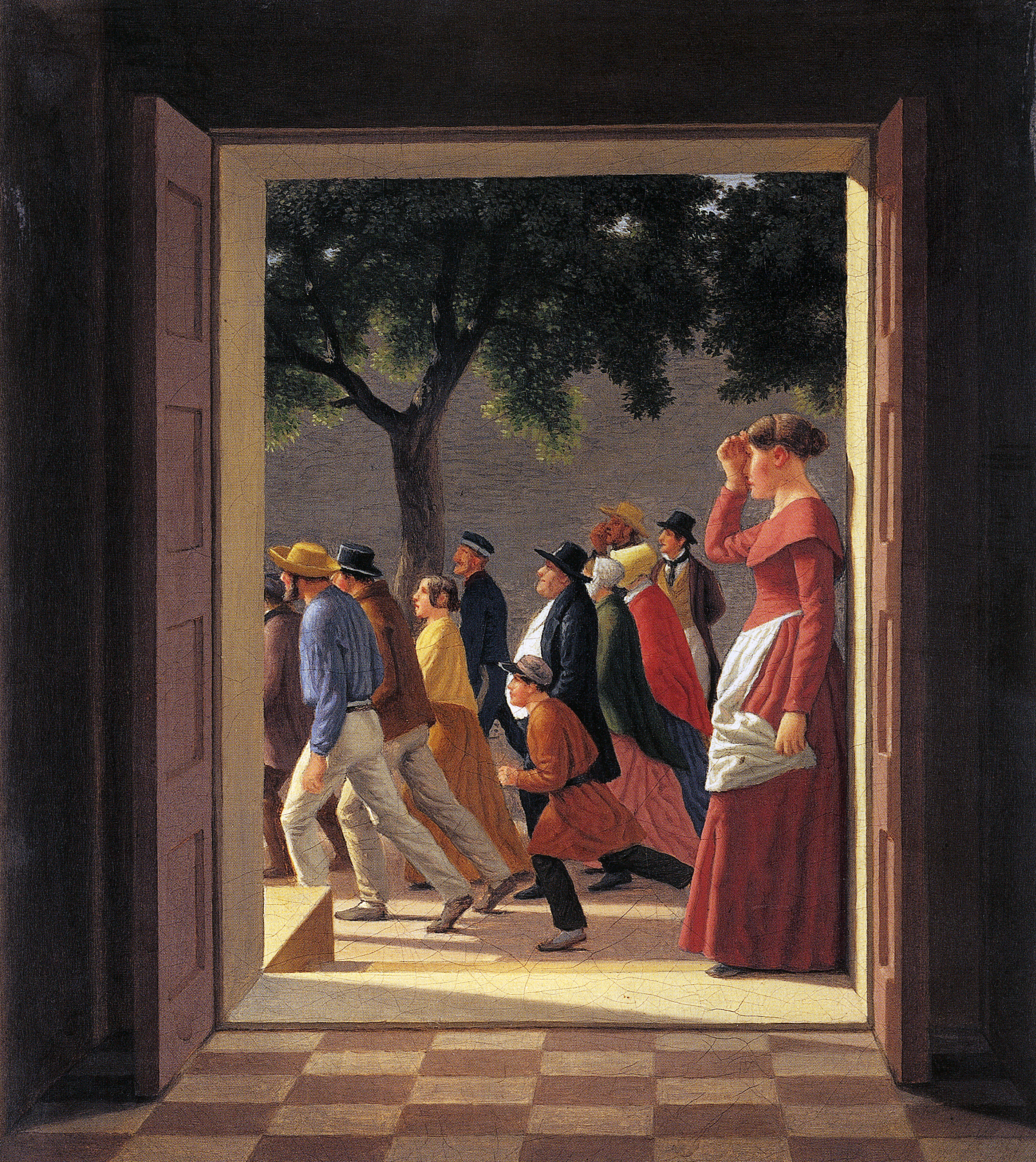 Eckersberg_View through a Doorway of Running Figures, 1845_p185