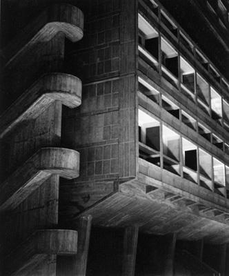 lucien hervé_unité d'habitation de marseille, 1949-1952_nuit