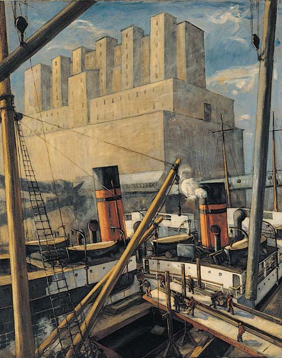 adrien-hebert_port-de-montreal_1924