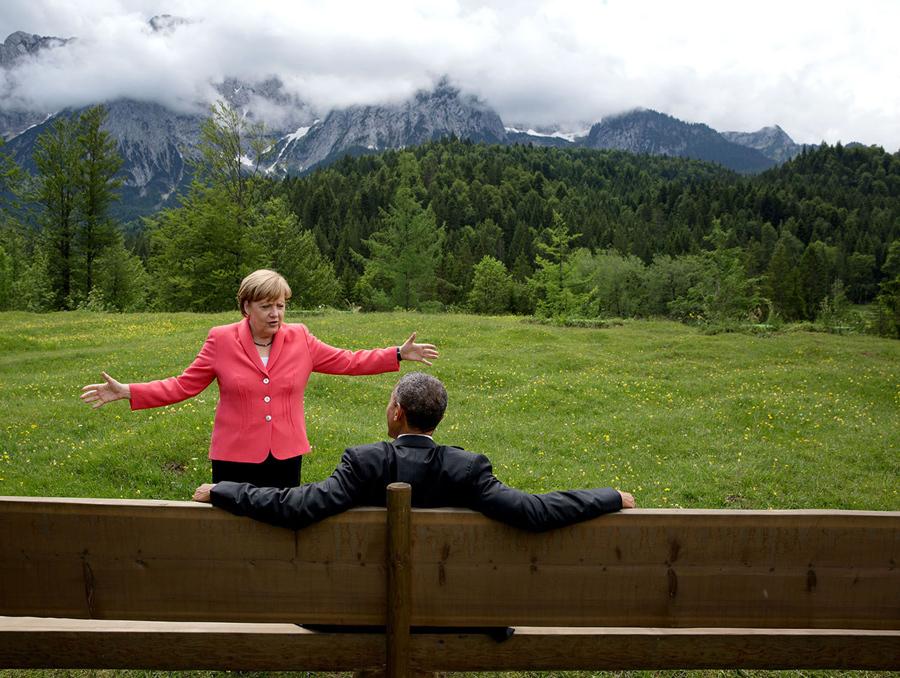 pete zouza_obama-merkel_G7 summit, krun, germany_2015