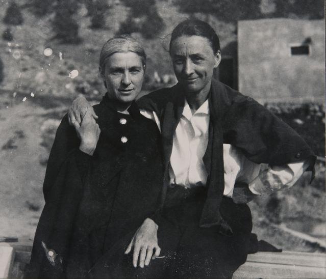 cady wells_rebecca james and georgia o'keeffe, taos, 1936