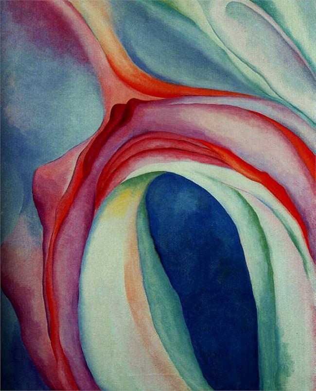 georgia okeeffe_music pink and blue II_1927