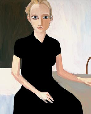 chantal joffe_blond girl black dress