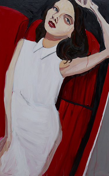 Chantal Joffe_Brunette in a Car, 2013